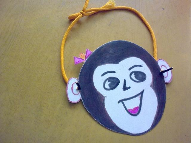可爱猴子头饰简笔画