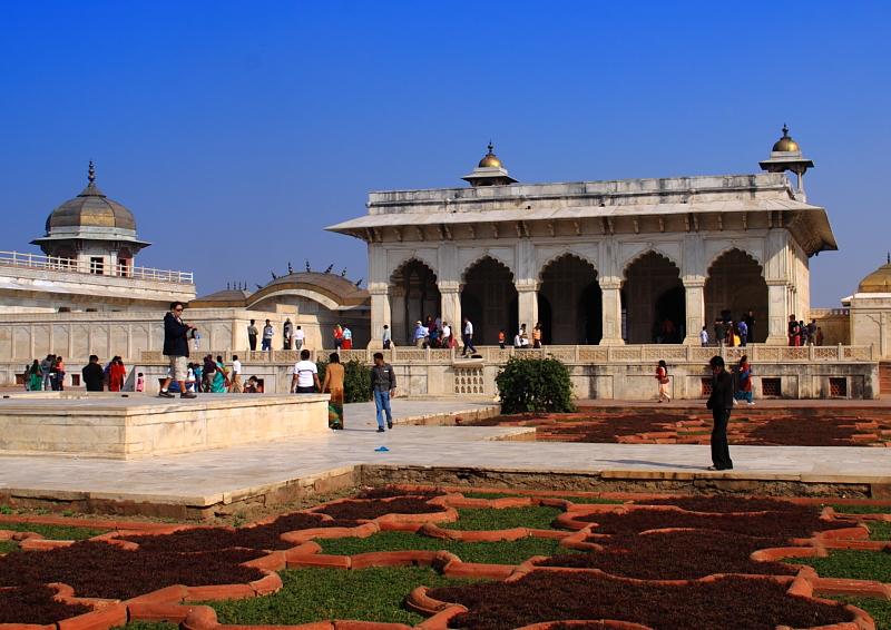 印度两座相邻的古堡:泰姬陵和<em>阿格拉</em>堡<em>风光</em>_旅