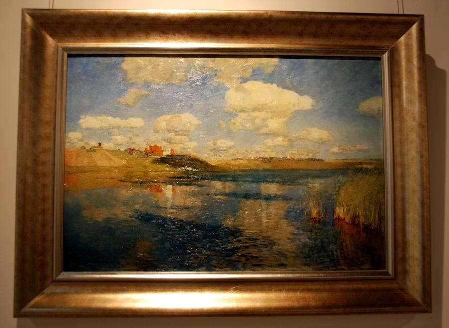 俄罗斯著名风景画家列维坦的四幅油画(高仿复制)