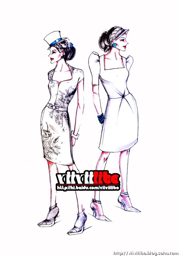 服装设计图基本画法 基础教程展示