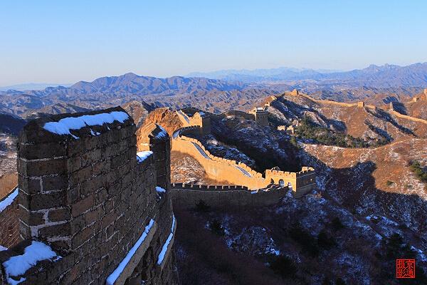 长城雪景-素材世界   中华长城长城万里长城中国自然风光美景高清图片
