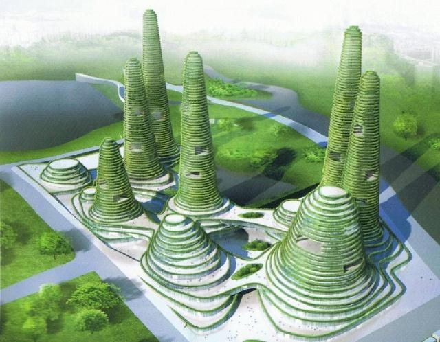 未来建筑时行时 都市中的山峦叠翠