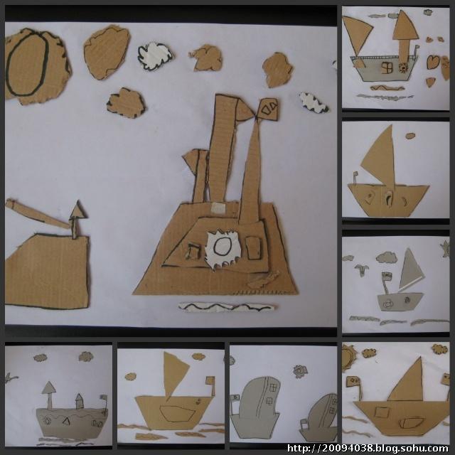 轮船模型手工制作纸板 图片合集