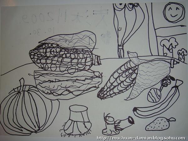 鹿晗手绘铅笔画 简笔展示