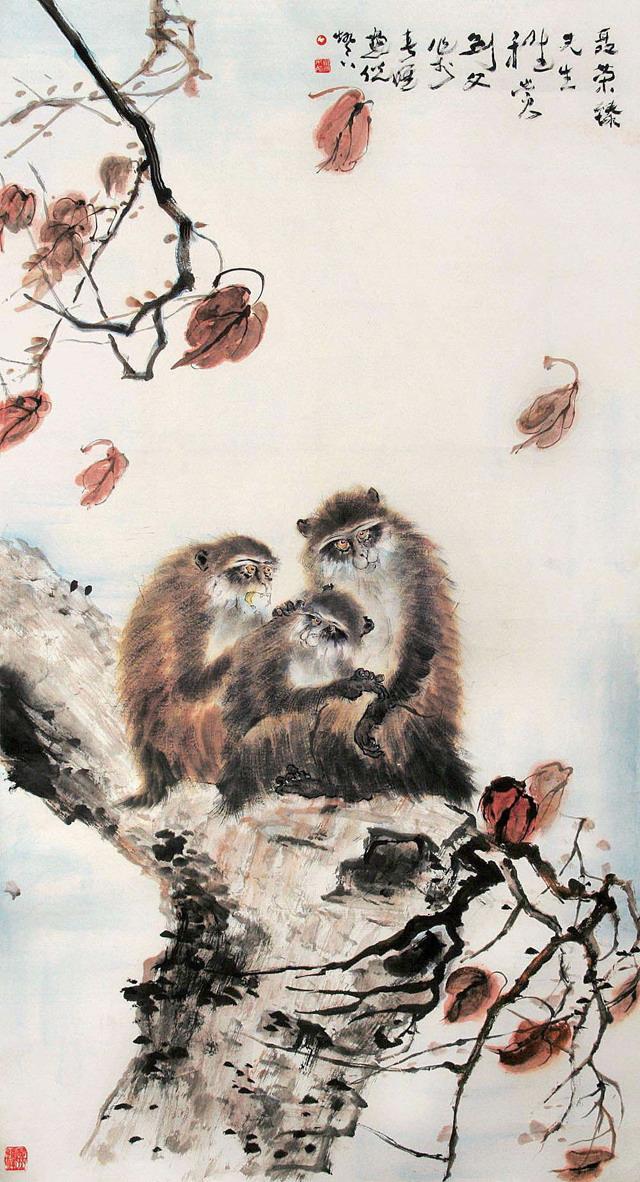 二年级猴年年画图片大全