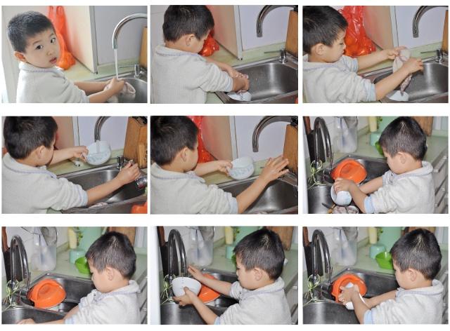 幼儿手扶碗步骤图