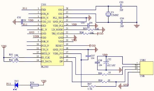电脑usb转ttl串口/rs232串口模块