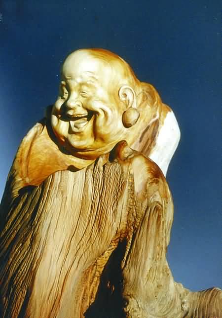 周扬木雕弥勒图片