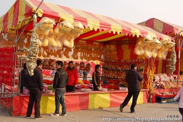 春节逛雕塑公园庙会