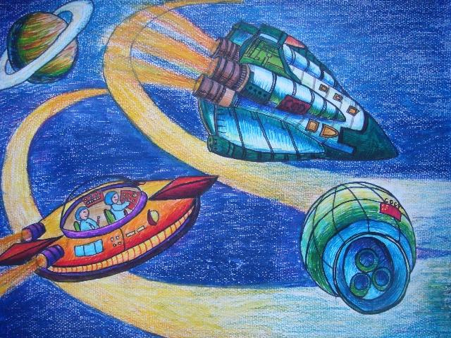 我校科技创新大赛绘画作品图片