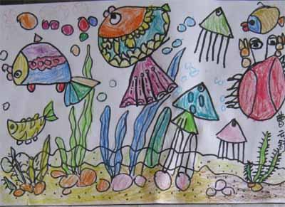 女儿的绘画作品(五岁半———六岁)