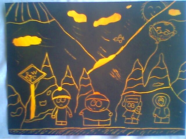 六一儿童刮画作品_五年 刮画 快乐的节日 30张照片-车老师图记-搜狐博客