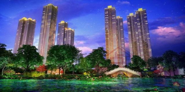 超高层公园景观住宅效果图(分别为世茂国际茶亭-俪园、世茂
