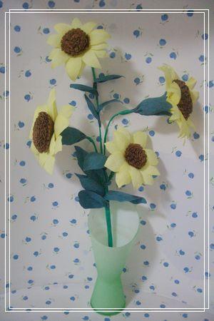 亲子手工---皱纹纸花